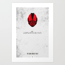 Minimalist Print - Bane Art Print