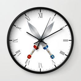 Two Roman Swords Wall Clock