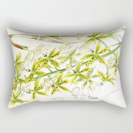 A orchid plant - Vintage illustration Rectangular Pillow