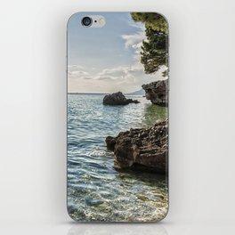 Seaside of Riviera Makarska in Croatia iPhone Skin