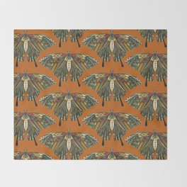 swallowtail butterfly copper Throw Blanket
