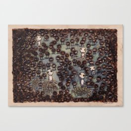 Soot sprites (Susuwatari) Canvas Print