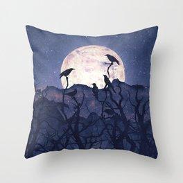 Midnight Chorus Throw Pillow