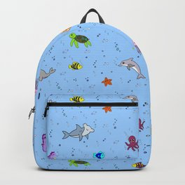 Sea creature pattern Backpack