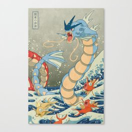 The Great Red Wave II Canvas Print