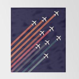 Aerial acrobat Throw Blanket