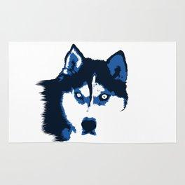 Blue Husky  Rug