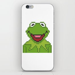 Kermit The Muppets Pixel Character iPhone Skin