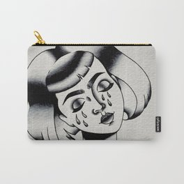 Sad Lady Head Carry-All Pouch