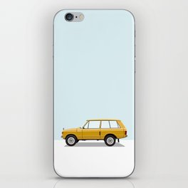 Yellow Range Rover iPhone Skin