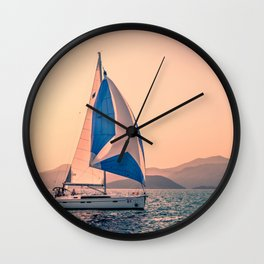 Yacht racing Wall Clock