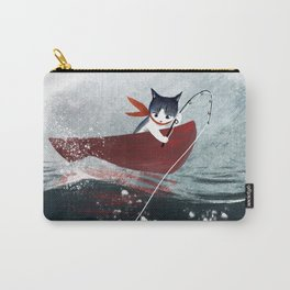 """""""Catfish"""" - cute fantasy cat mermaids illustration Carry-All Pouch"""