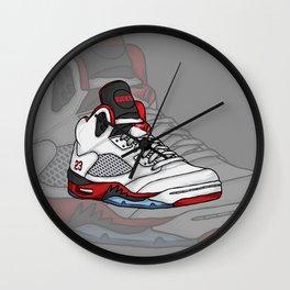 j5-fire reds Wall Clock