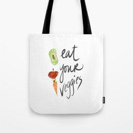 Eat Your Veggies Tote Bag