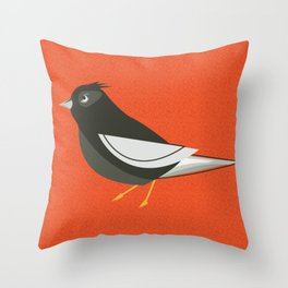 Retro Birdy Throw Pillow