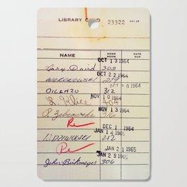Library Card 23322 Cutting Board