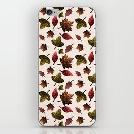 Sparkly leaves fall autumn sparkles pattern iPhone Skin