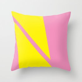 Pink Angles Throw Pillow