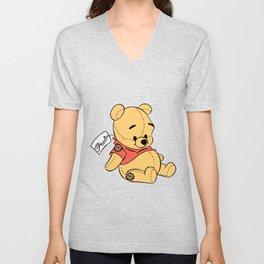 Winnie The Pooh Plush Toy Unisex V-Neck