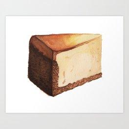 Cheesecake Slice Art Print