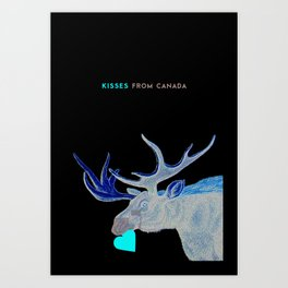 Canada Moose Art Print