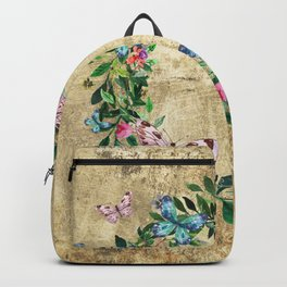 Wreath #Flowers & Butterflies#Royal collection Backpack