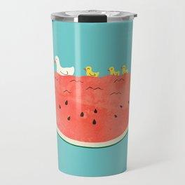 duckies and watermelon Travel Mug