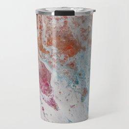WHITE WASH | Fluid abstract art by Natalie Burnett Art Travel Mug