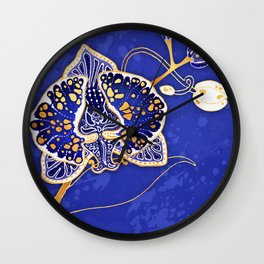 Egyptian Blue :: Orchid Wall Clock