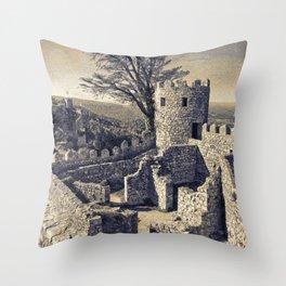 Castelo dos Mouros, Sintra, Portugal Throw Pillow