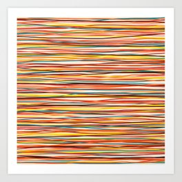 Colored Lines #1 Art Print