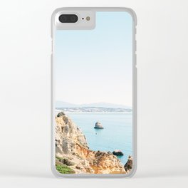 Coast of Lagos, Algarve in Portugal | Bright and airy seascape photography art Clear iPhone Case