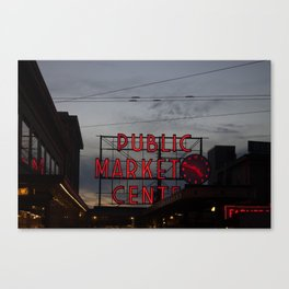 Pikes Place Market Canvas Print