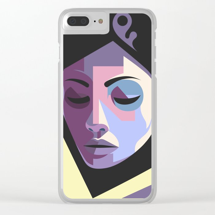 Girl in hijab Clear iPhone Case