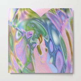 Rosey Blue Cotton Candy Too Metal Print