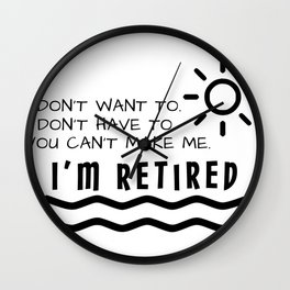Retirement Gifts Funny For Men Women Husband Dad Mom Wall Clock