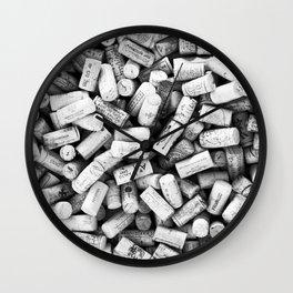 Something Nostalgic II Twist-off Wine Corks in Black And White #decor #society6 #buyart Wall Clock
