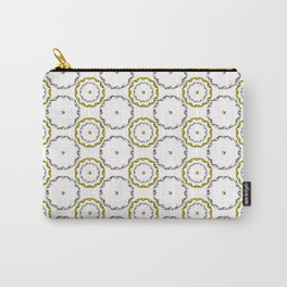 Gold and Silver Rings Polka Dot Pattern Carry-All Pouch