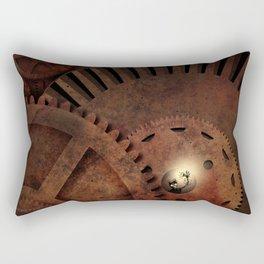 The Man in the Machine - A Steampunk Fantasy Rectangular Pillow