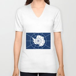 Flag of Antarctica Unisex V-Neck