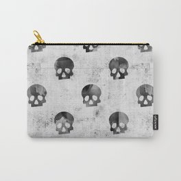 Grunge Skulls Pattern Carry-All Pouch