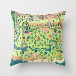Animal Crossing (どうぶつの 森) Throw Pillow