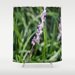 The Bee and the Flower Shower Curtain