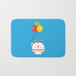 Fat Cat with Balloons Bath Mat