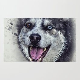 Beautiful husky Rug