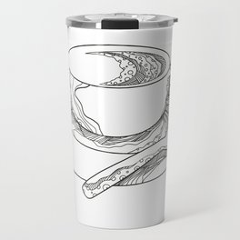 Cup of Coffee Doodle Travel Mug