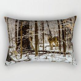 Deer in the Glistening Forest by Teresa Thompson Rectangular Pillow