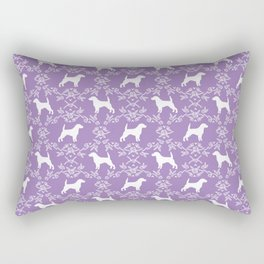 Beagle dog pattern lilac and white floral basic dog breeds repeat pattern beagles dog Rectangular Pillow