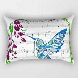 Carrier of Hope (Hummingbird and Wisteria) Rectangular Pillow