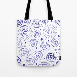 Abstract watercolor sparkles – blue Tote Bag